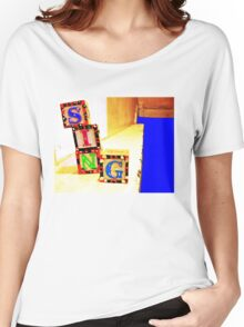 Sing! Baby Blocks Women's Relaxed Fit T-Shirt