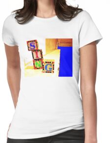 Sing! Baby Blocks Womens Fitted T-Shirt