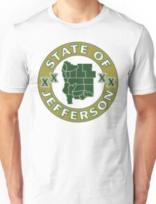 State of Jefferson (outline) Unisex T-Shirt