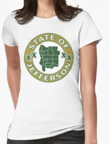 State of Jefferson (outline) Womens Fitted T-Shirt