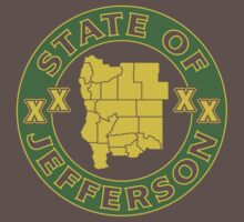 State of Jefferson (outline) Kids Clothes