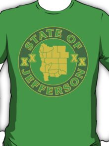 State of Jefferson (outline) T-Shirt
