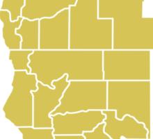 State of Jefferson (outline) Sticker
