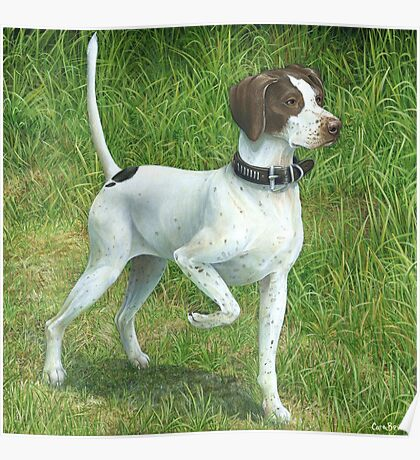 Bess the Hunting Dog, Original Painting Poster