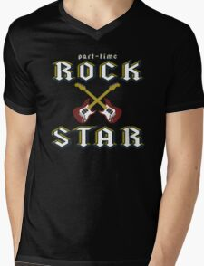 Part Time Rock Star Mens V-Neck T-Shirt