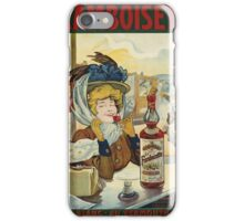 Tamagno - Framboisette Poster. Cafe view: drinking and eating party, woman and man, people, family, female and male, peasants, cafe, romance, women and men, restaurant, food iPhone Case/Skin