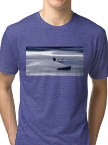 Kitesurfing - Riding the Waves in a Blur of Speed Tri-blend T-Shirt