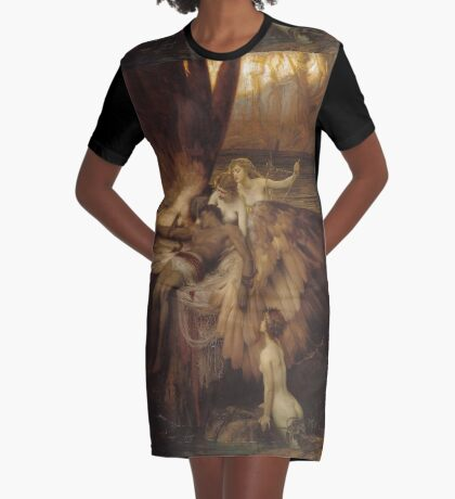 Herbert Draper - The Lament For Icarus 1898. Fairy painting: icarus, mermaids, nude, nudity , temptation , dawn, star, angels, angelic , torso, love  Graphic T-Shirt Dress