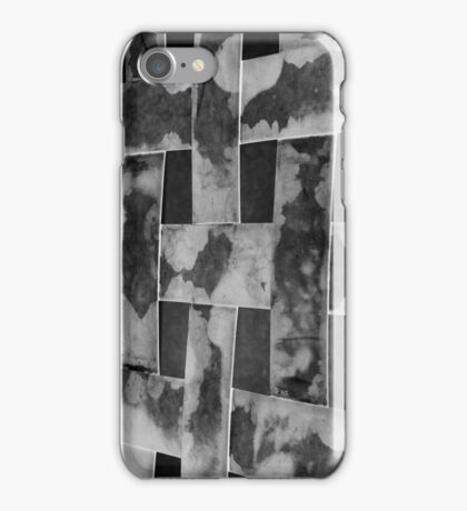 Abstract Series - Woven Black & White Textured Bands iPhone Case/Skin