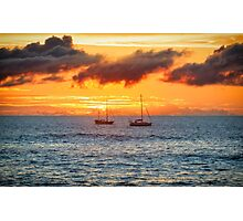 Rapa Nui Sunset, Easter Island, Chile Photographic Print