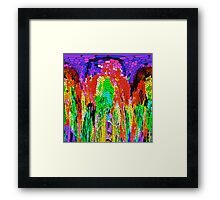 Streams of Color Abstract Framed Print