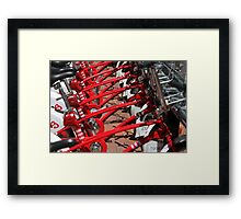 City bicycle parking Framed Print