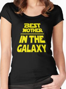 Best Mother in the Galaxy - Title Crawl Women's Fitted Scoop T-Shirt