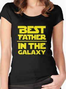Best Father in the Galaxy Women's Fitted Scoop T-Shirt