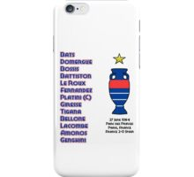 France Euro 1984 Winners iPhone Case/Skin