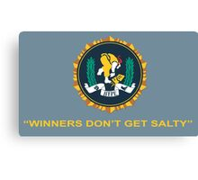 Winner's Don't Get Salty Canvas Print