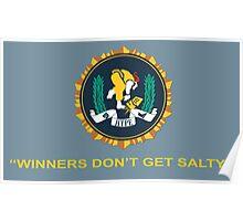 Winner's Don't Get Salty Poster