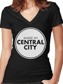 Made In Central Women's Fitted V-Neck T-Shirt