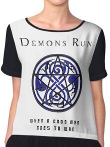 SuperWHO - Demons Run Chiffon Top