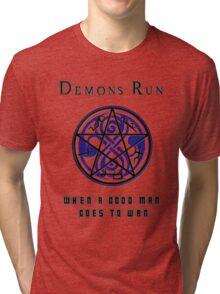 SuperWHO - Demons Run Tri-blend T-Shirt