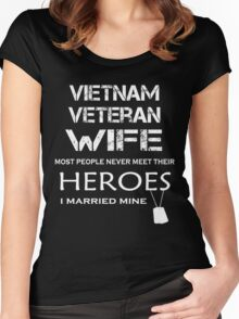 Vietnam veteran wife tshirt Women's Fitted Scoop T-Shirt