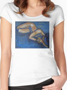 Nostalgic - Female Nude Women's Fitted Scoop T-Shirt