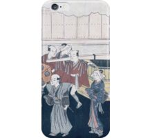 Suzuki Harunobu - Bridal Processionabout 1764. People portrait:  people,  geisha ,  women,  man,  daily life,  fashion japan,  costume,  kimono,  sandals,  hairstyle,  headdress iPhone Case/Skin