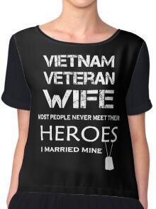 Vietnam veteran wife tshirt Chiffon Top