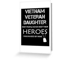 Vietnam veteran daughter tshirt Greeting Card