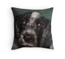 Black and White Dog Throw Pillow