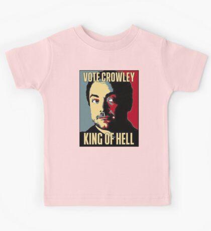Vote Crowley - KING OF HELL Kids Tee