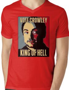 Vote Crowley - KING OF HELL Mens V-Neck T-Shirt
