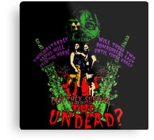 Tick and Tock vs. the Undead Metal Print