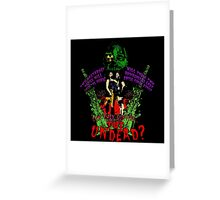 Tick and Tock vs. the Undead Greeting Card