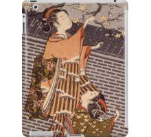 Suzuki Harunobu - Breaking Off A Plum Branch1767. Woman portrait:  geisha ,  women,  courtesan,  fashion,  costume,  kimono,  hairstyle,  headdress,  parasol,  mirror,  maid iPad Case/Skin