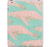 The Chevron Whales iPad Case/Skin