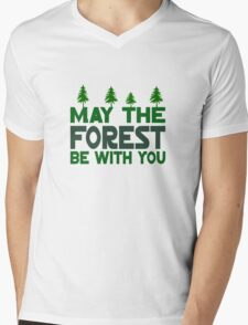 May The Forest Be With You Mens V-Neck T-Shirt