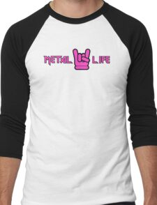 Metal Life Men's Baseball ¾ T-Shirt