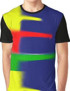 Primary Colors Blue - Yellow - Red - Green with Blur II Graphic T-Shirt