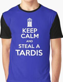 Keep Calm and Steal A TARDIS Graphic T-Shirt