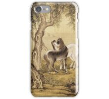 Shen Nanpin - Album Of Birds And Animals (Horses). Forest view: forest , trees,  fauna, nature, birds, animals, flora, flowers, plants, field, weekend iPhone Case/Skin