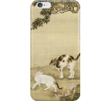 Shen Nanpin - Album Of Birds And Animals (Cats). Forest view: forest , trees,  fauna, nature, birds, animals, flora, flowers, plants, field, weekend iPhone Case/Skin