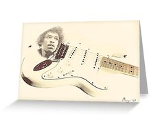 Jimmy Hendrix Stratocaster Greeting Card