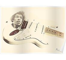 Jimmy Hendrix Stratocaster Poster