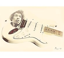 Jimmy Hendrix Stratocaster Photographic Print