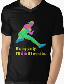 It's My Party Mens V-Neck T-Shirt