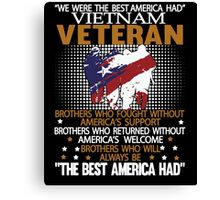 Veteran shirt Canvas Print