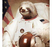 Astronaut Sloth Photographic Print