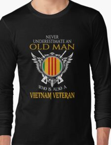 Old Man - Vietnam Veteran Tshirt Long Sleeve T-Shirt