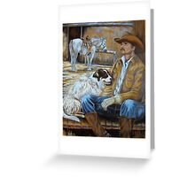 A Cowboy's Top Hands Greeting Card